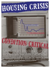 """Western Regional Advocacy Project """"Housing Crisis"""" offset print 2006"""