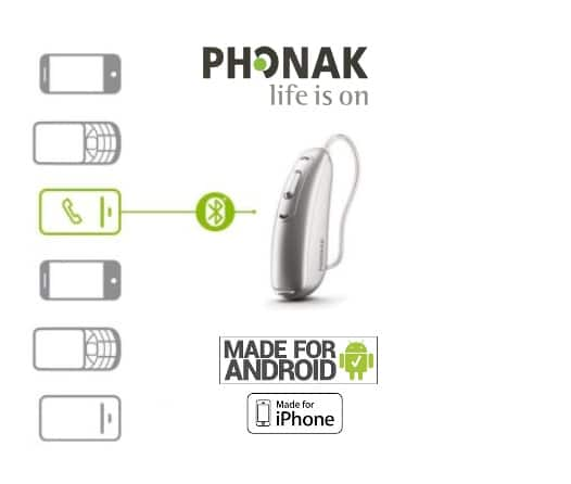 Phonak Audeo B Direct Hearing Aid: Made for Android or iPhone