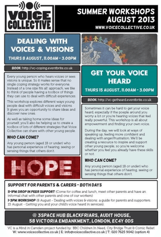 Voice Collective Summer Workshops