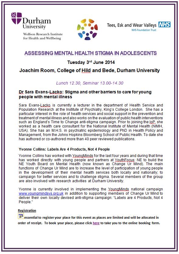 Assessing Mental Health Stigma in Adolescents