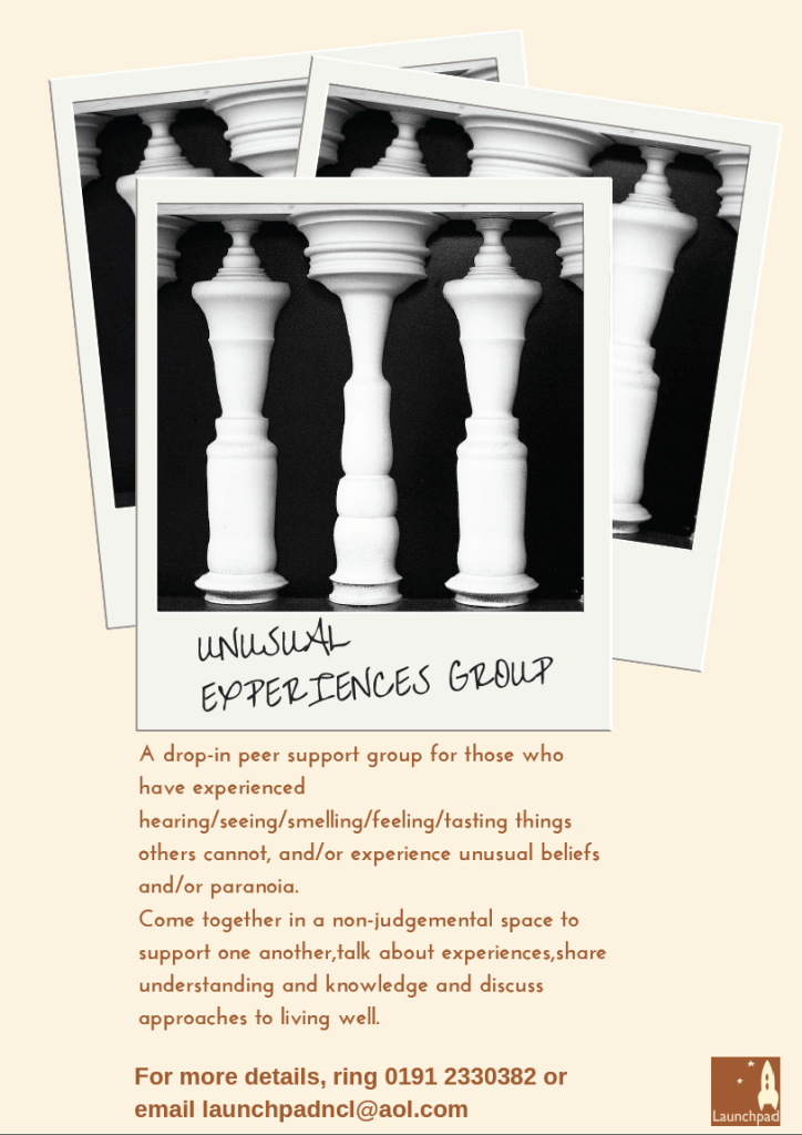 Unusual experiences group flyer
