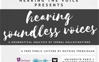 Hearing Soundless Voices: a Grammatical Analysis of Verbal Hallucinations (May 31)