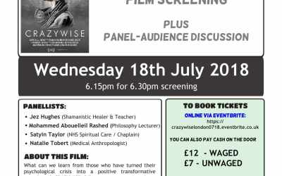 CRAZYWISE: a film by Kevin Tomlinson and Phil Borges (18 July, London)