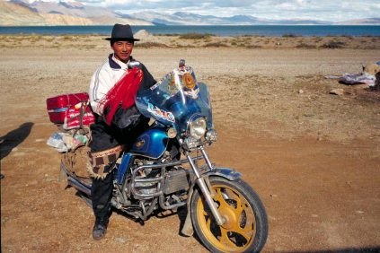Mt Kailash: Man riding moto