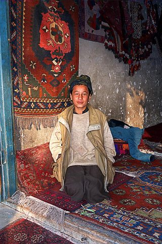 Carpet store in Mazar