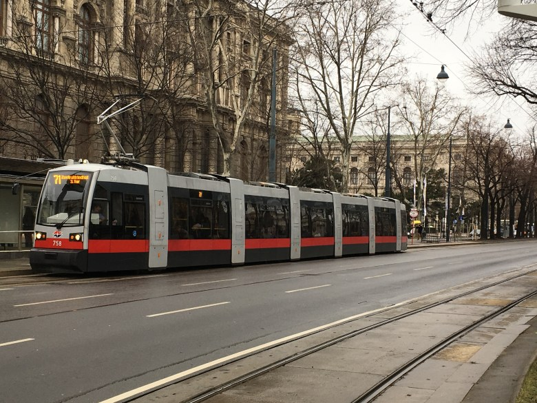The entire Ringstrasse – Vienna's main boulevard – can be seen during a tram ride