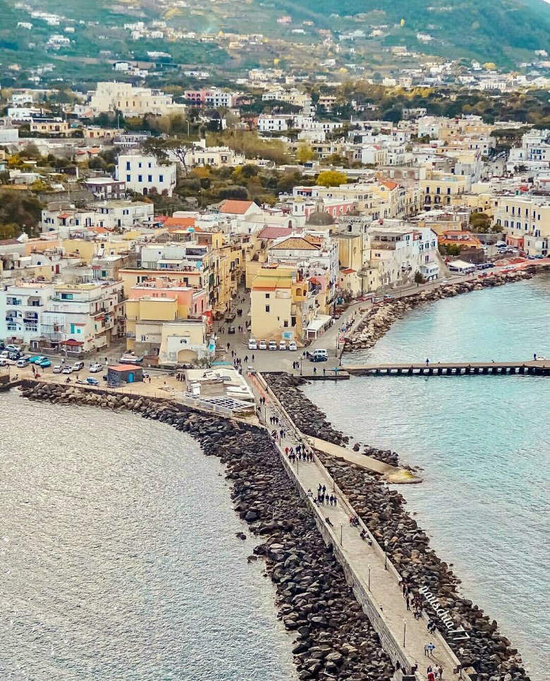 View of Ischia Ponte from the Aragonese Castle