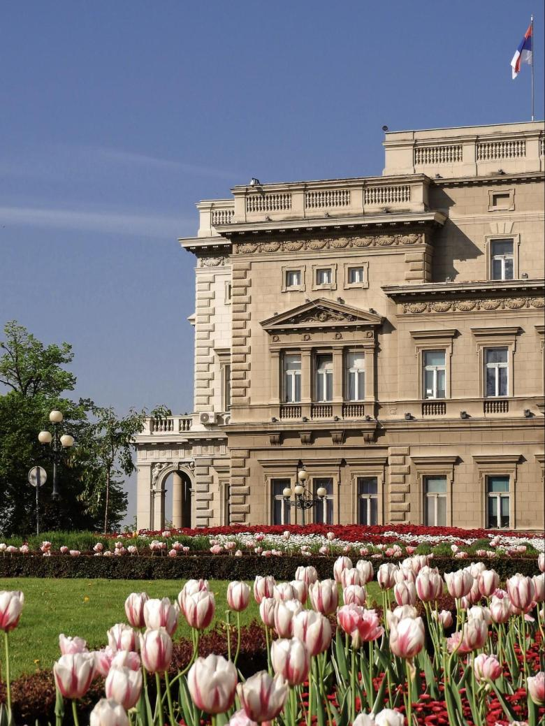 Old Royal Palace of Belgrade in Spring