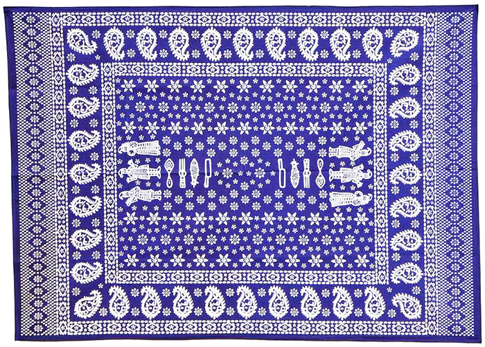 Georgian Blue Table Cover.