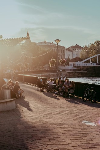 Riverside Bars in Tartu in Summer