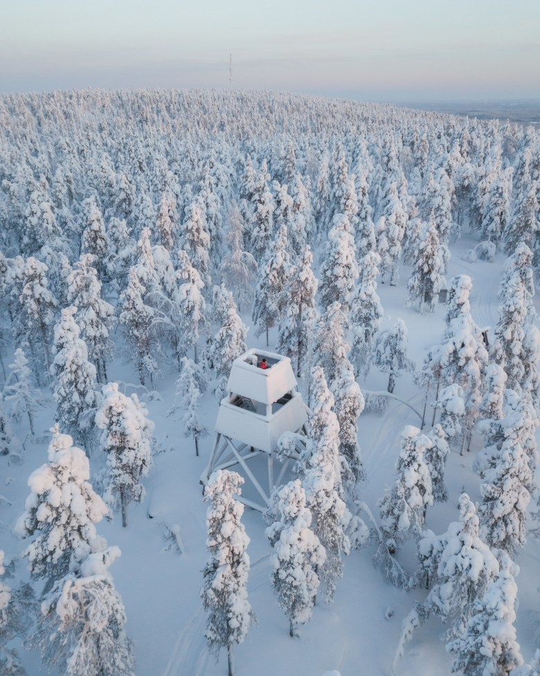 Finnish Lapland is a Winter wonderland with snowfall and below zero temperatures