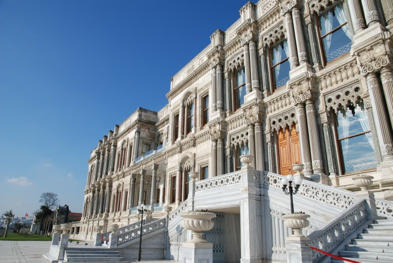 Don't miss out the Çırağan Palace while walking on the Bosphorus shore in Besiktas.