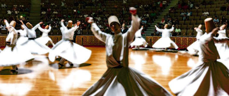 The stunning Sufi whirling Dervishes, one of the icons of Istanbul.