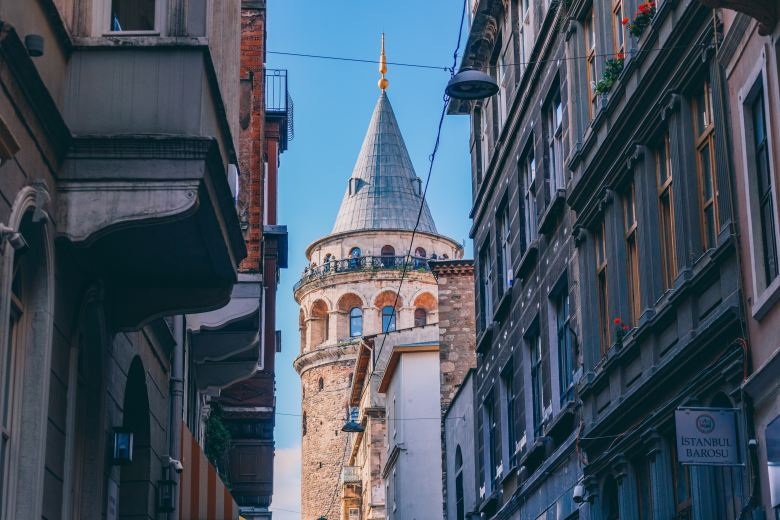 Get to the upper floors of Galata from the elevator for fine dining and panoramic views.