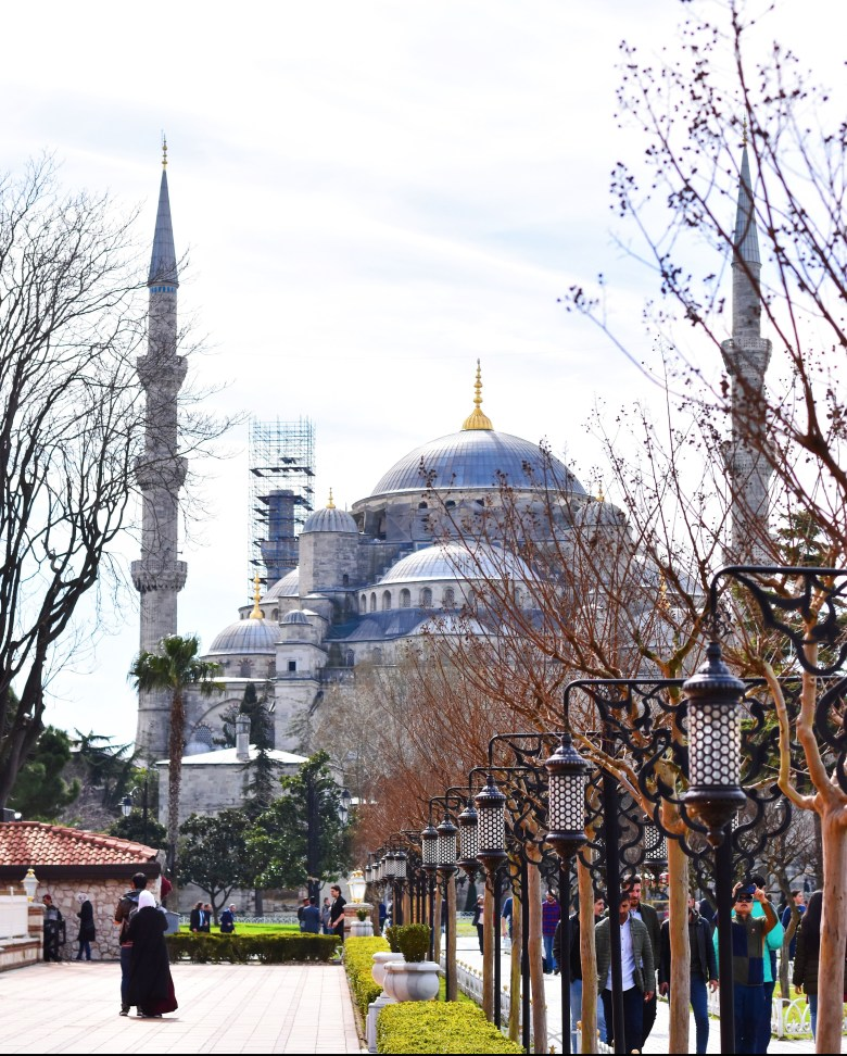 The Blue Mosque's interior is adorned with more than 20,000 Iznik blue tiles, hence the name.