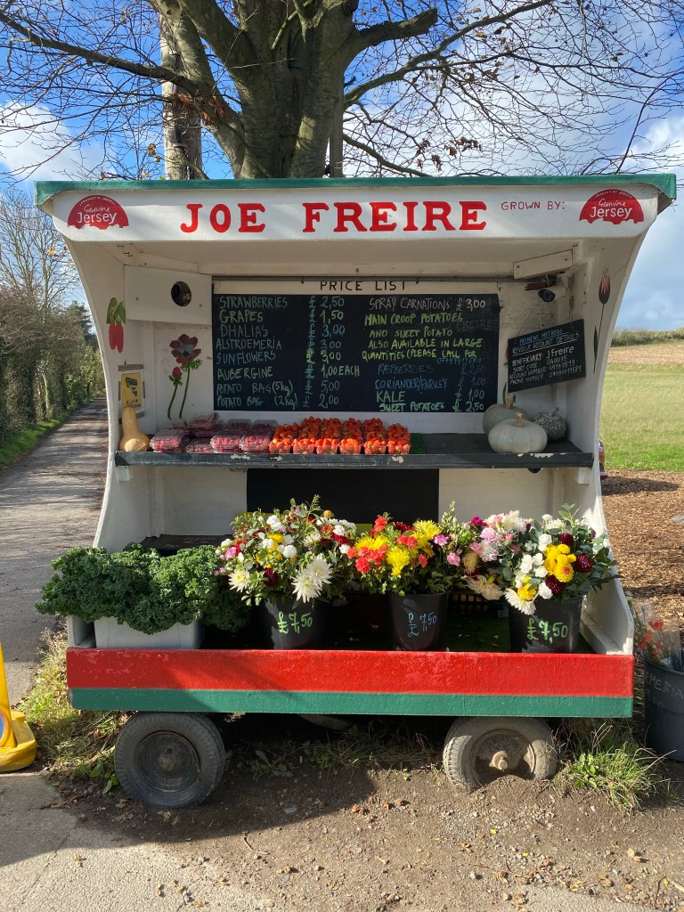 Freshly picked and fragrant strawberries grown by farmer Joe Freire can be picked up from his roadside stall