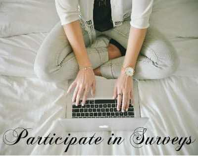 participate in surevys make money working from home