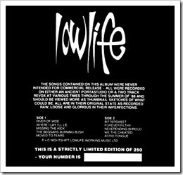 Lowlife - The Black Sessions and Demos