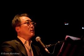 Shiro Sano on February 2015 at Yamaha Ginza Studio, Tokyo, Japan.