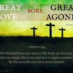2. Great love bore great agonies -Spurgeon Photo Quote