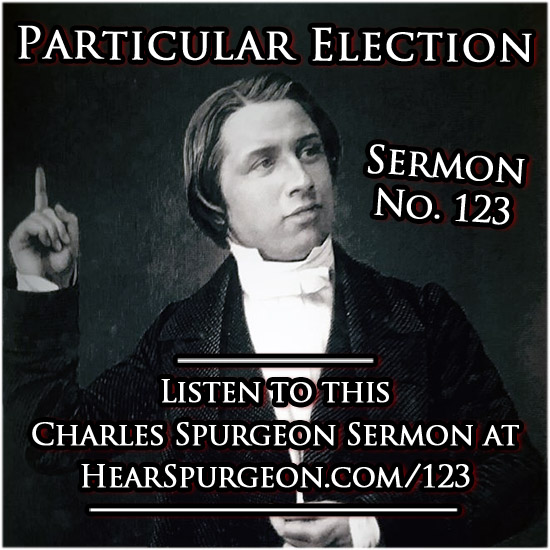 sermon 123, particular election, predestination, elect spurgeon, 2 peter 1