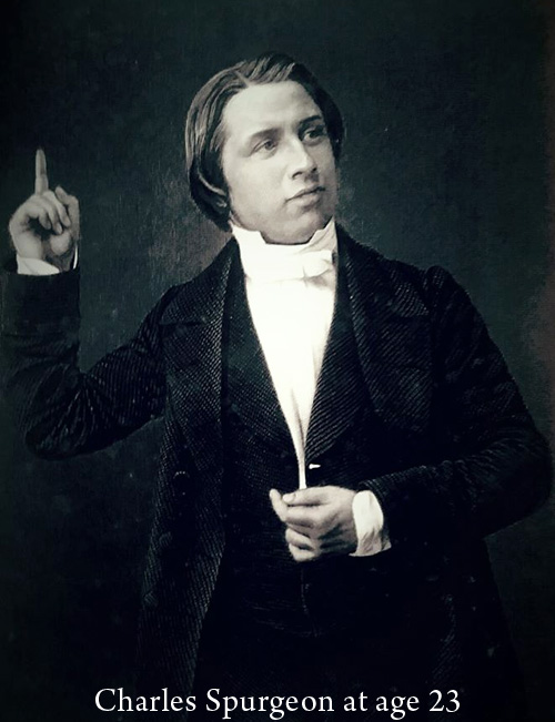 Spurgeon age 23, young charles spurgeon, spurgeon young man, new park street chapel pulpit