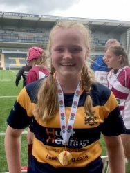 Charlotte - rugby champion!