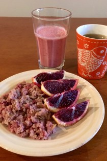 Warm Quinoa Cranberry Breakfast Cereal