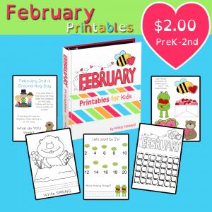 February Printables for Kids!