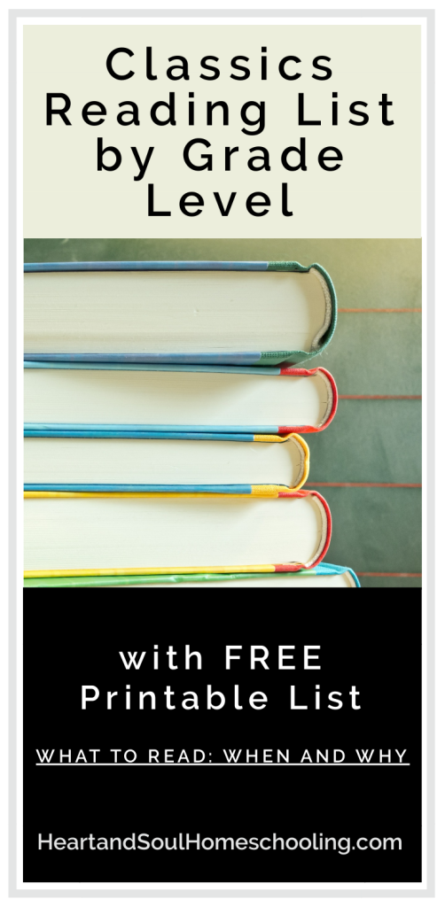 Classics Reading List by Grade Level | What to read when and why in your #homeschool