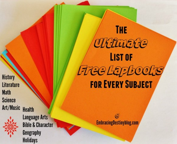 Ultimate List of Free Lapbooks for Every Subjects @ heartandsoulhomeschooling.com