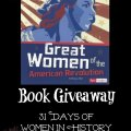 Great Women of the American Revolution book giveaway ~ 31 Days of Women in History