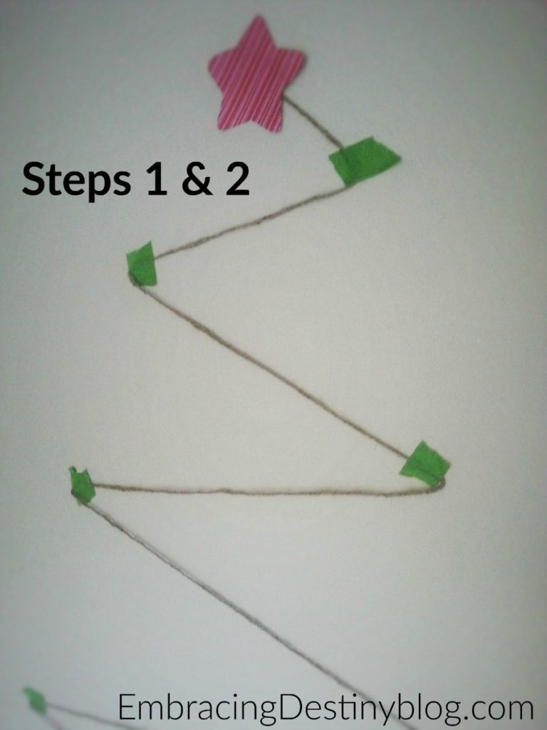 DIY Christmas Card Tree ~ Steps 1 & 2