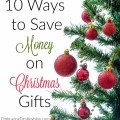 Stressed out by your budget limits? Here are 10 ways to save money on Christmas gifts this year! heartandsoulhomeschooling.com