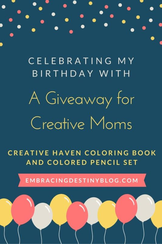 Need some creativity and relaxation? Enter this giveaway for a Creative Haven coloring book and colored pencils to celebrate my birthday! heartandsoulhomeschooling.com
