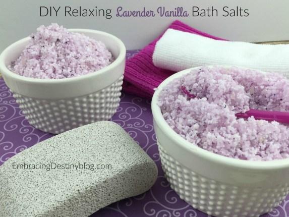 Relaxing Lavender Vanilla DIY Bath Salts