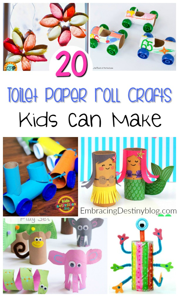 20 Fun And Creative Toilet Paper Roll Crafts For Kids Heart And