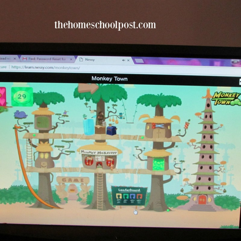 Nessy Learning Monkey Town | homeschool review