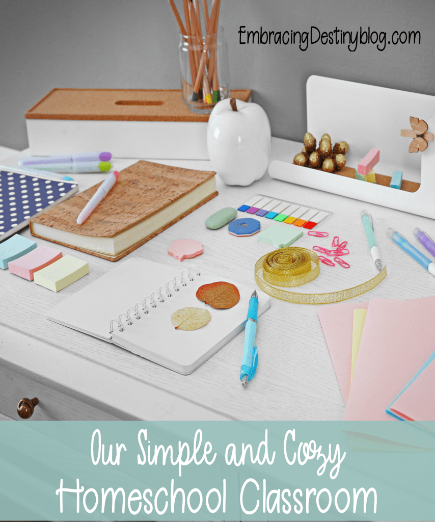 Our Cozy and Simple Homeschool Classroom | what does a homeschool room look like? | homeschool spaces | homeschooling in a small space