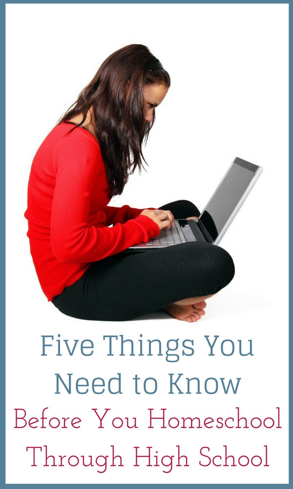 Five things to know before homeschooling high school
