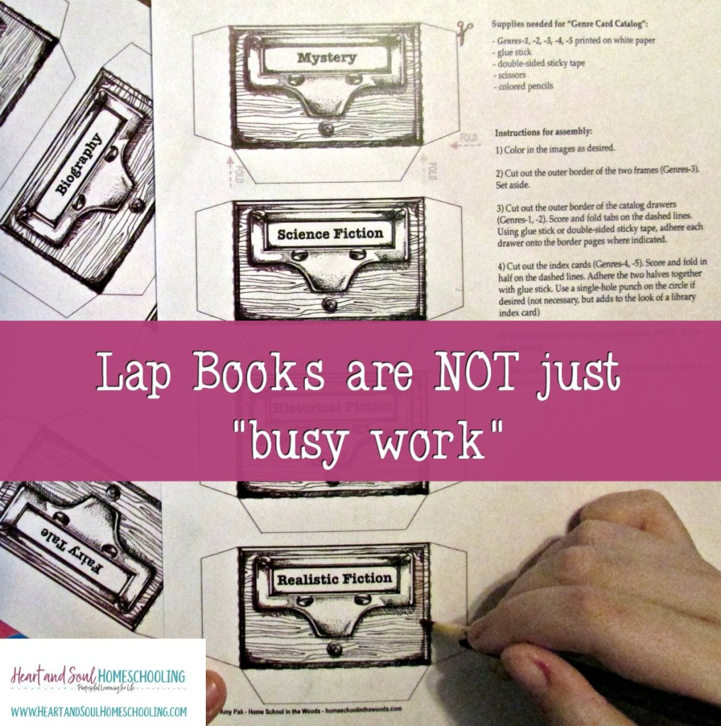 Lap books are not just busy work | hands-on homeschooling | Home School in the Woods A La Carte projects
