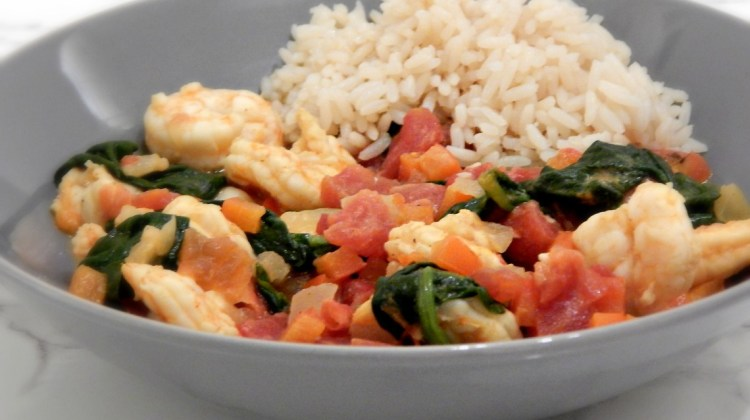 Coconut Shrimp & Spinach Curry