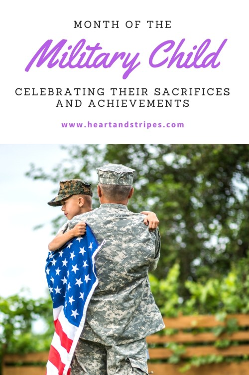 April is the month of the military child. It's the month that we dedicate to recognizing the sacrifices that these amazing kids make each day. So often we fail to realize that military children are serving right along with their parent.