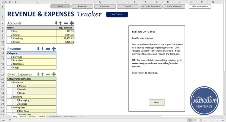 Revenue and Expenses Tracker