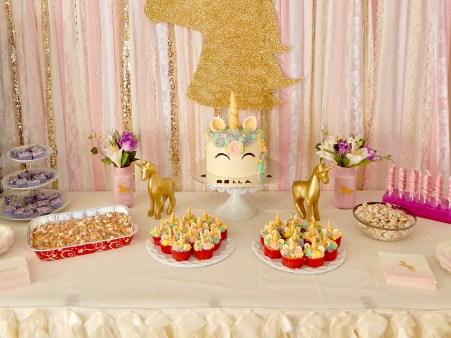 Magical Unicorn Themed Party - Dessert Table