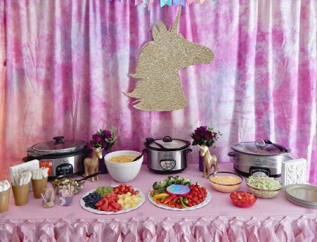 Unicorn Themed Party - Food Table