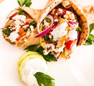 Easy Chicken Gyro With Eggplant (or Not)