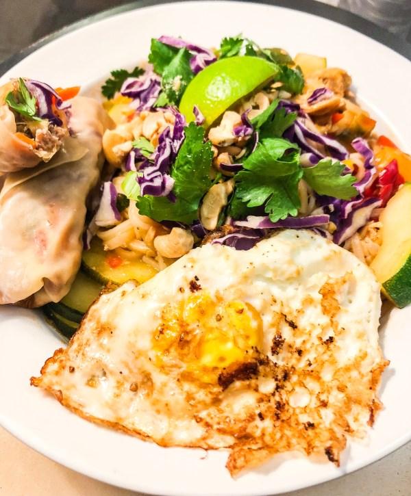 Chicken Pad Thai & A Fried Egg....