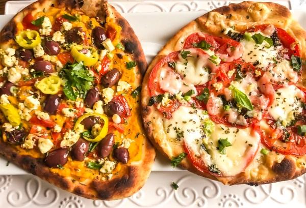 Fall Off (the wagon) Fridays for Flatbread Pizza!! Greek or Italian Style?? I Love Them Both!!!