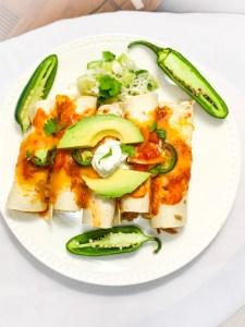 Tasty Chicken & Veggie Enchiladas
